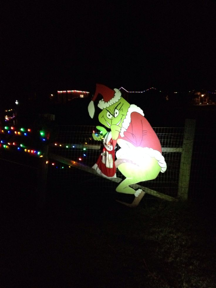 Outdoor grinch stealing lights christmas ideas for Light up christmas decorations