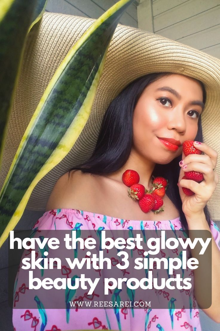 HAVE THE BEST GLOWY SKIN WITH 3 SIMPLE BEAUTY PRODUCTS