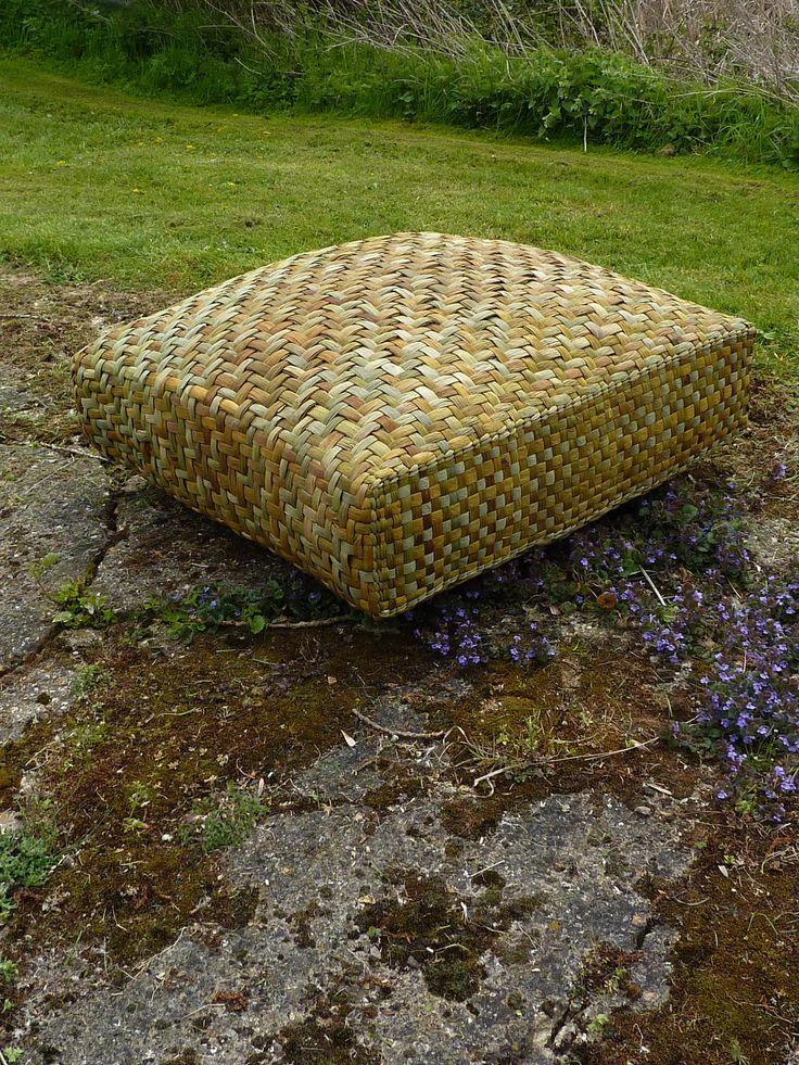 Large outdoor cushion handmade from English Bulrush.