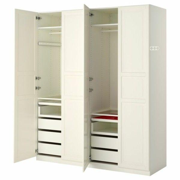 Epic Begehbarer Kleiderschrank Alpnach Norm Pax wardrobe in white