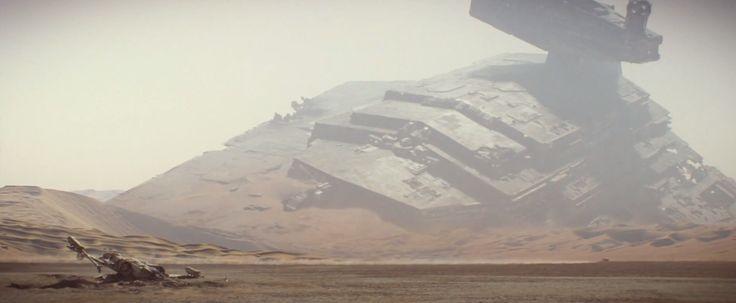TFA Teaser 2 - Star Destroyer wreckage.