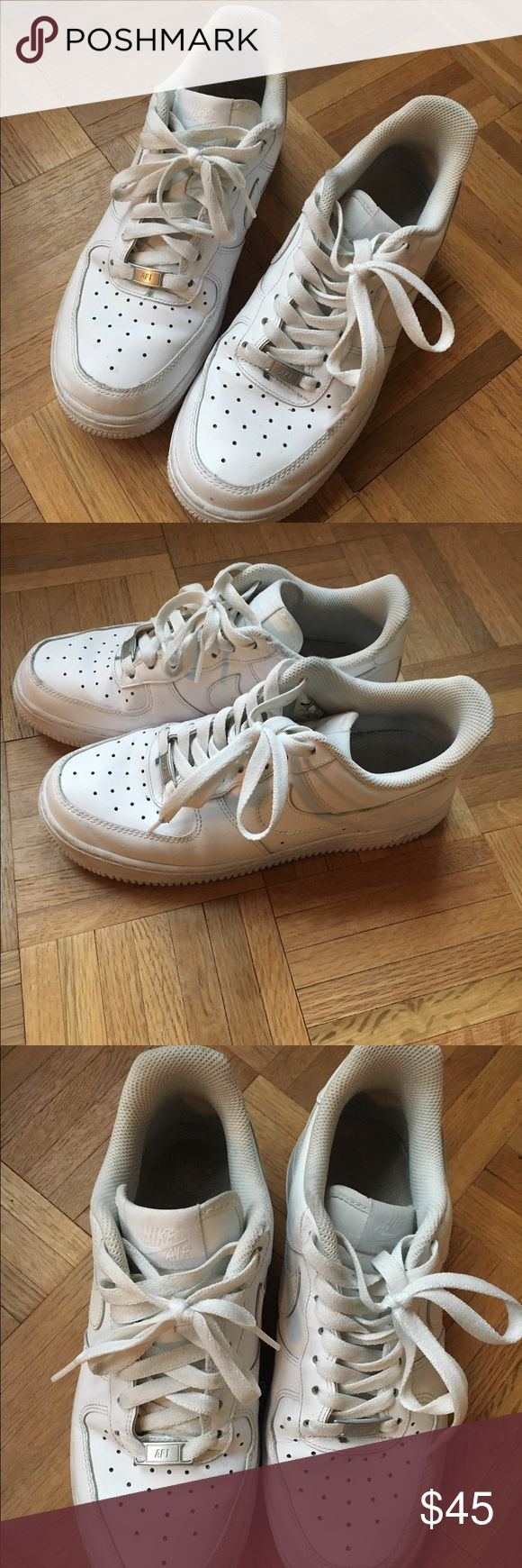 White Nike Air Force One Shoes White Nike Air Force Ones. Good condition! Size 8 Nike Shoes Sneakers