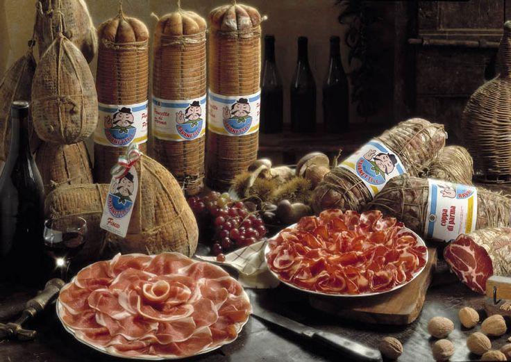 Fiocchetto of #Ham seasoned Ravanetti http://bit.ly/1WAo4r2 #parma #CulatelloHam,#Culatello, #Felino #salami