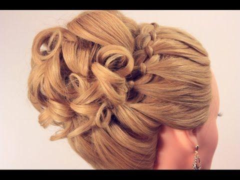 Вечерняя прическа на длинные волосы. Wedding prom hairstyle - YouTube