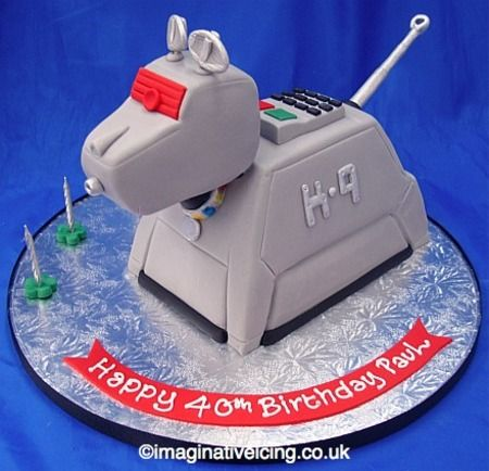 Dr Who K-9 cake by Imaginative Icing via cakewrecks