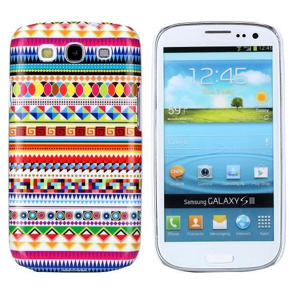 Indianen kleurrijk hoesje Samsung Galaxy S3