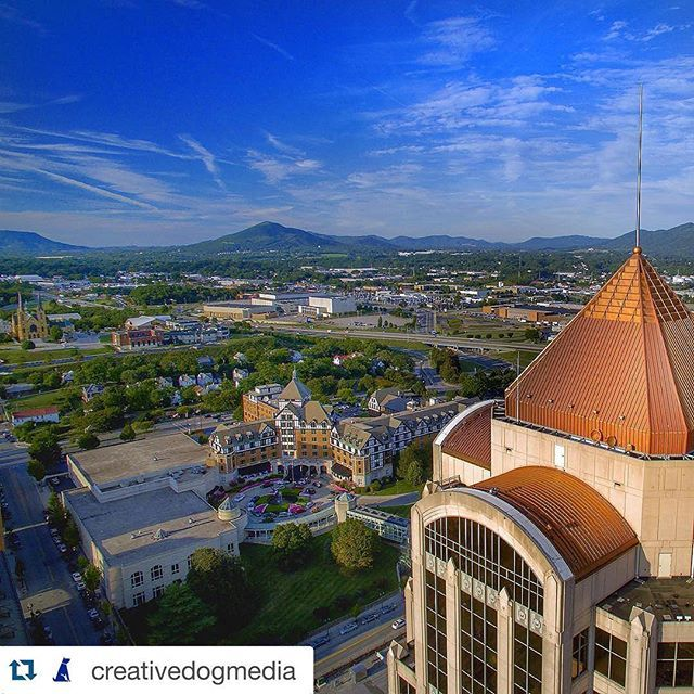 Aerial View Of The Roanoke Valley
