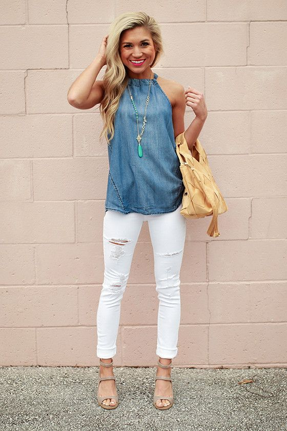 25  best ideas about White Capri Outfits on Pinterest | Capri ...