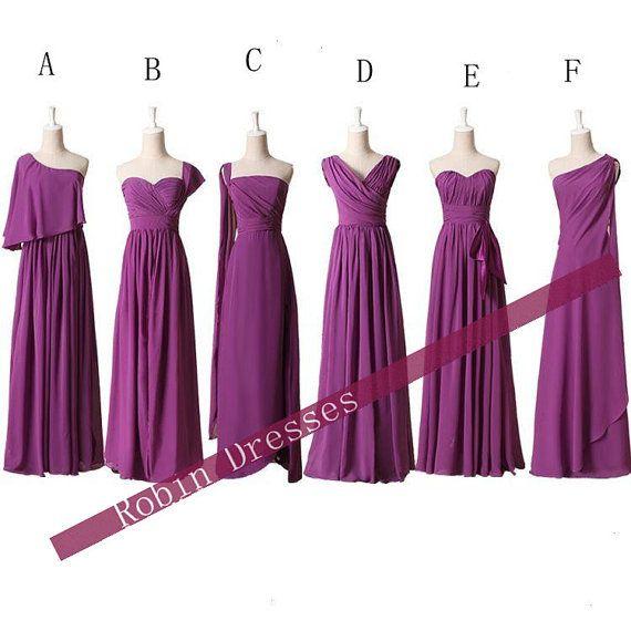 New Bridesmaid Dresses, Custom Long Floor Length Purple Bridesmaid Dresses Prom Dresses Party Dresses