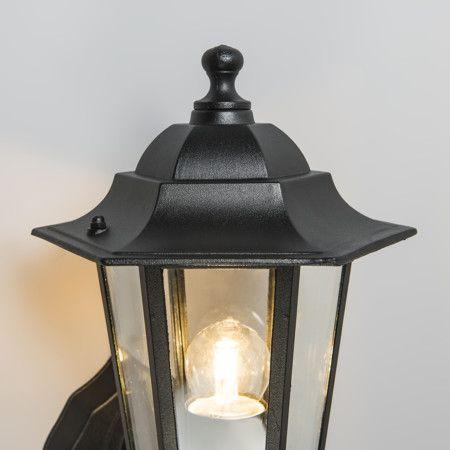 Zewnętrzna lampa ścienna New Orleans górna czarna