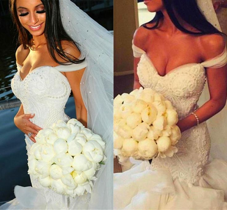 2016 Sweetheart Lace Mermaid Wedding Dresses With Veil Long Sexy Back Formal Bridal Gowns Ruffles High Quality Chapel Train Wedding Lace Dress Wedding Style Dresses From Idreamdress, $307.86| Dhgate.Com