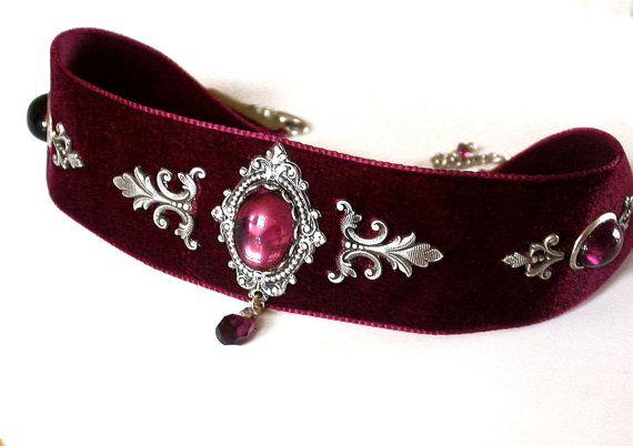 Hey, I found this really awesome Etsy listing at https://www.etsy.com/listing/93203922/victorian-velvet-choker-purple-velvet