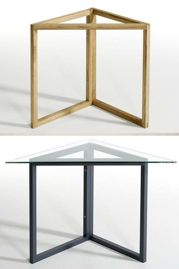 Treteaux Design 21 Idees Pour La Table Ou Le Bureau Treteaux Design Treteaux Bois Meubles Pour Petits Espaces