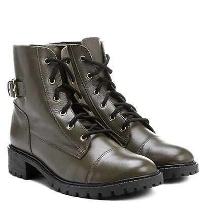 Bota Shoestock Coturno Fivela