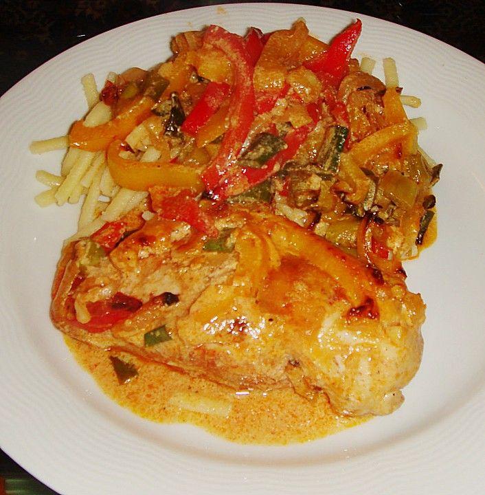 Paprika-Sahne-Hähnchen 101