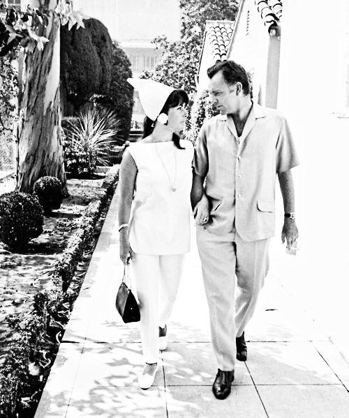 "elizabethandrichardburton: "" Elizabeth Taylor & Richard Burton, photographed by Bob Willoughby, 1966. """
