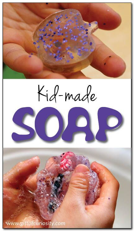 How cool is this? Get a list of materials and step-by-step instructions for making homemade glycerin soap with kids. What a fun way to encourage hand washing (and sneak a little science lesson in at the same time)! || Gift of Curiosity
