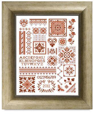 Free Cross Stitch Pattern - Quaker Sampler