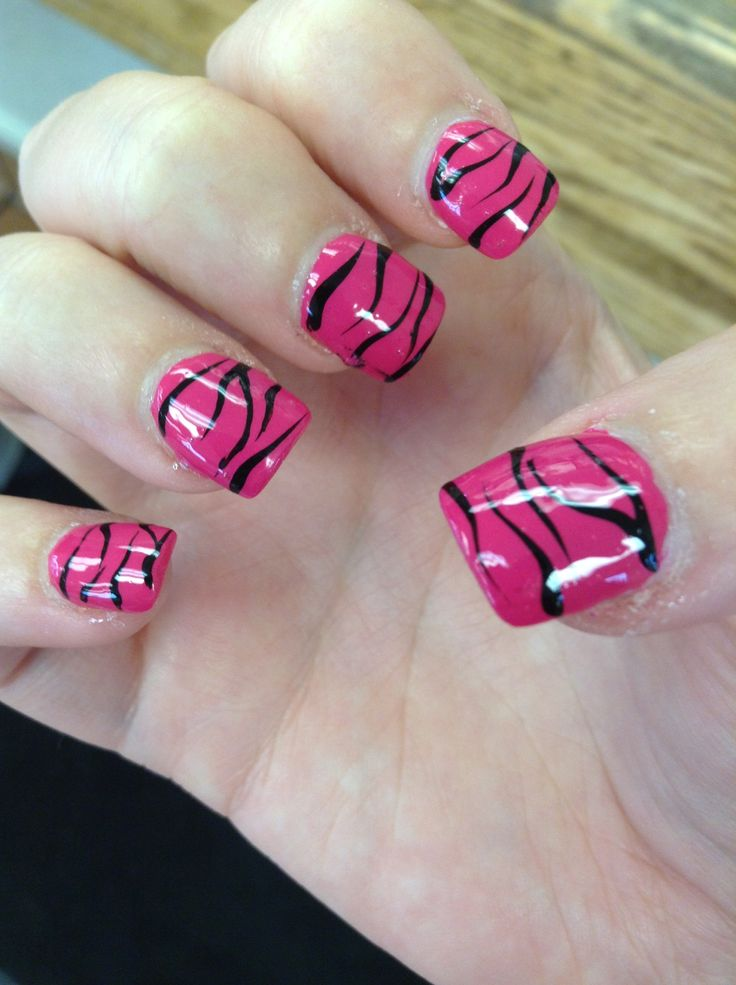 The 25 best zebra print nails ideas on pinterest zebra nail zebra print nail design prinsesfo Image collections