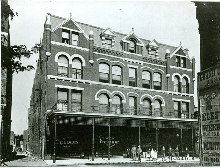 The Old Hotel Anderson Was On Meridian Between 7th 8th Indiana