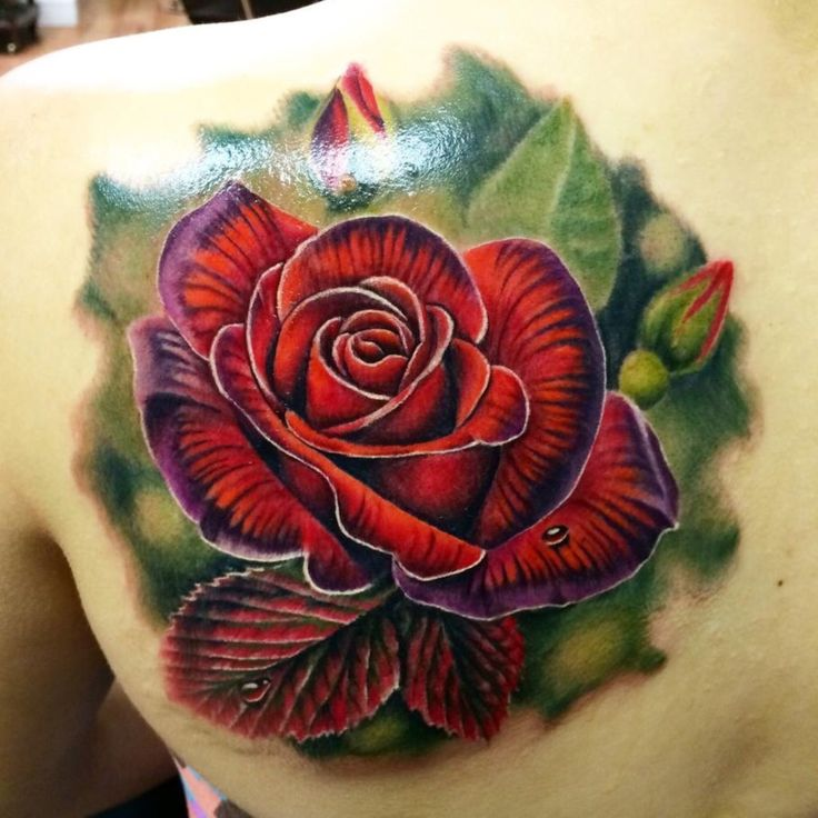 I love this rose tattoo