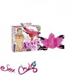Vibro-Strap-on Venus Butterfly Riferimento  0551660 0000 Condizione:  Nuovo prodotto  Venus Butterfly è un meraviglioso vibratore strap-on che potete allacciare davanti o dentro il vostro punto del piacere!