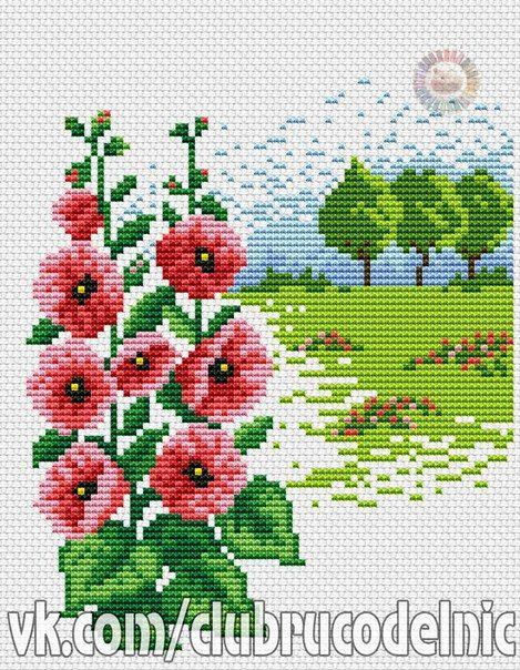 Łąka i Różowe Kwiaty