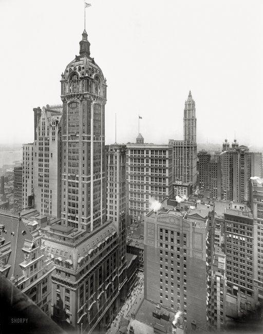 RP: The Singer Bldg., NY 1913