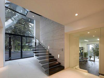 Casas minimalistas y modernas escaleras dise o en casa for Arquitectura moderna minimalista