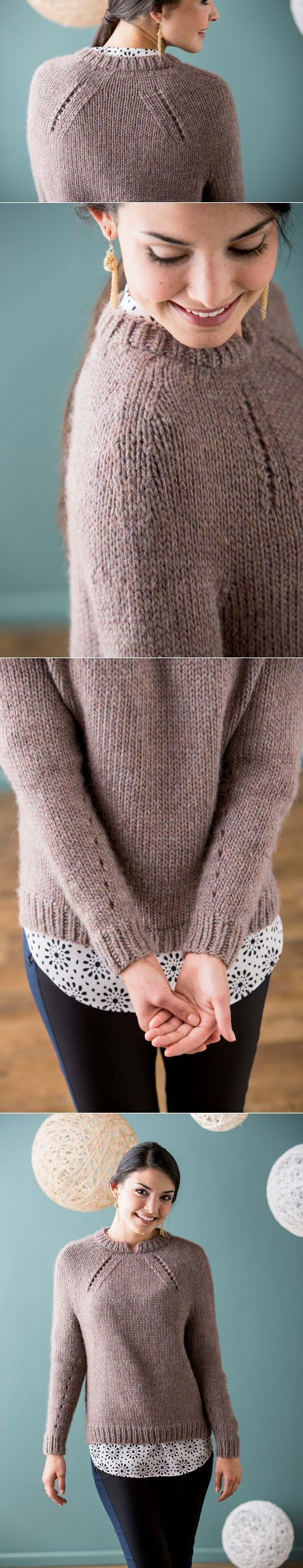 Пуловер Shifted Eyelet Yoke, Knit Purl, осень-зима (fall/winter) 2014