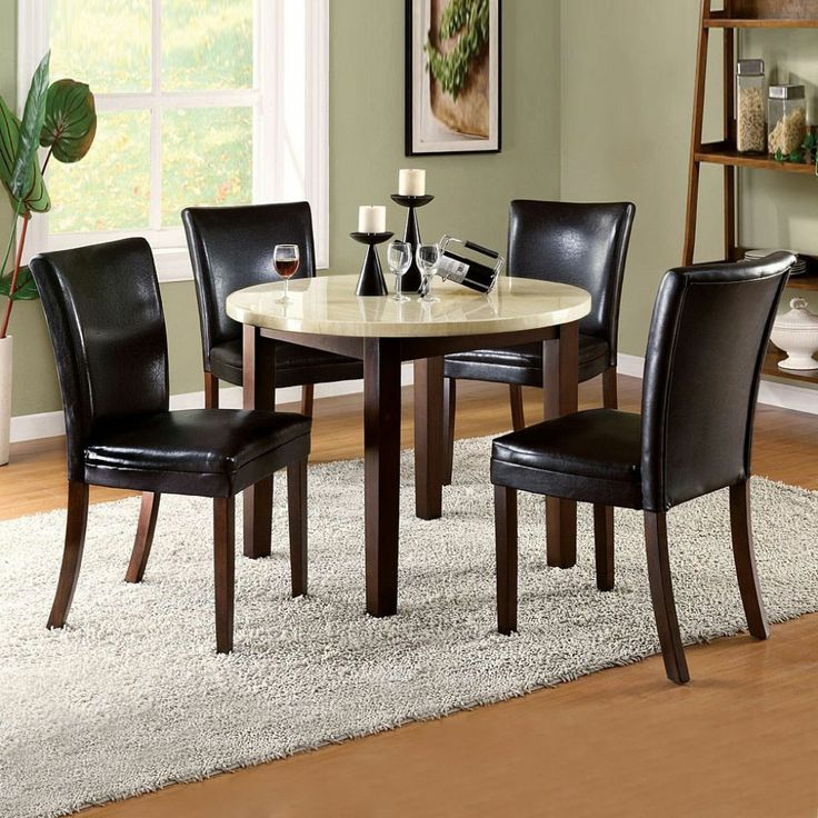 small dining table and chairs for 4. 90cm round glass dining table