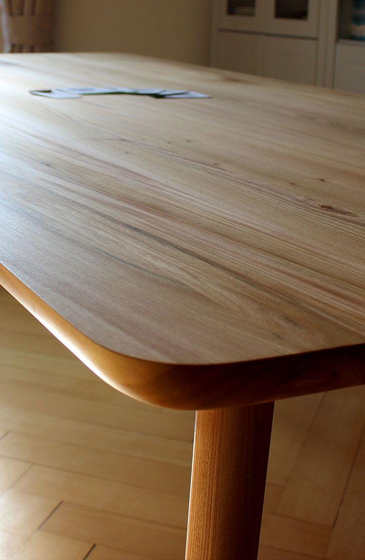 Mit Einer Ganz Schlicht Gemauerten Oberflache Holzgespur Massivholz Ruster Esstisch Marliese Esstisch Wohn Mobel Tisch