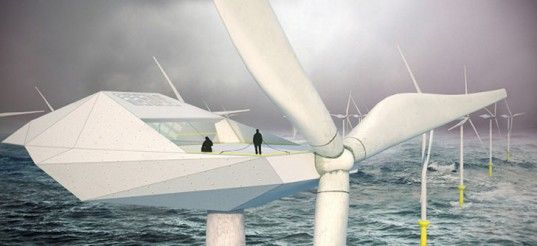 Morphocode, Wind Turbine Loft, futuristic loft, industrial spaces, wind turbine home, giant wind turbines, wind power, offshore wind turbines, wind turbine array, renewable energy sources, extreme living
