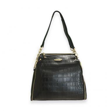 Tokyo Black Satchel Bag