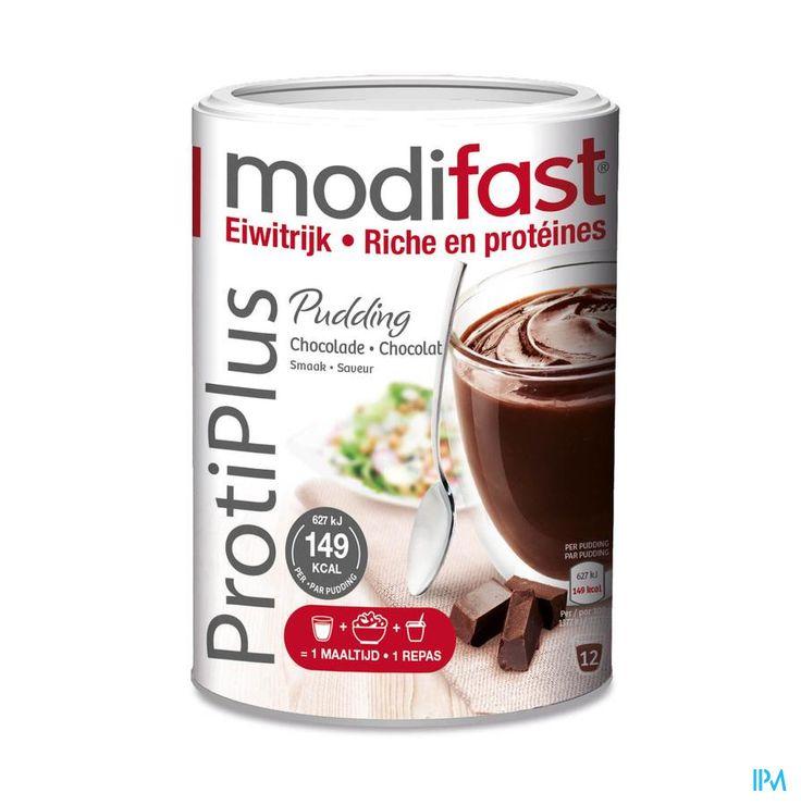 Modifast ProtiPlus Pudding Chocolade | Maaltijdcomponent ter bereiding van eiwitrijke pudding, te gebruiken binnen een eiwitrijk, energiebeperkt voedingsprogramma.