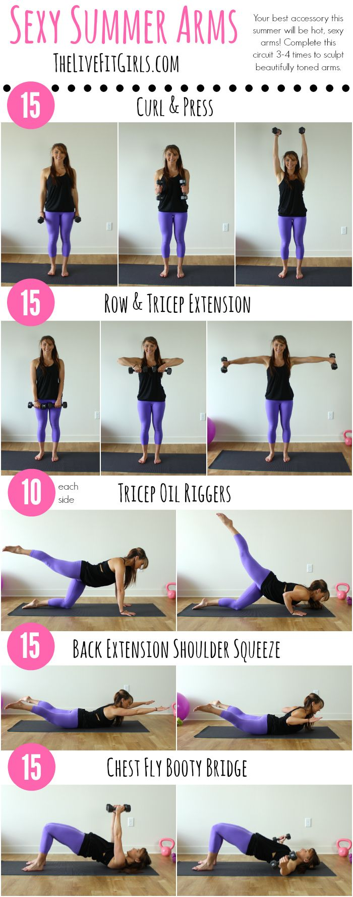 Who doesn't want toned, sexy arms for summer? Add this arm workout to tone up and sculpt beautiful muscles