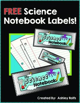 "FREE! Interactive Science Notebook Labels ......Follow for Free ""too-neat-not-to-keep"" teaching stuff :)"