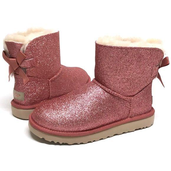 b268f05eca6 UGG Mini Bailey BOW SPARKLE Boots MANY SIZES! NIB NWT in 2019   My ...