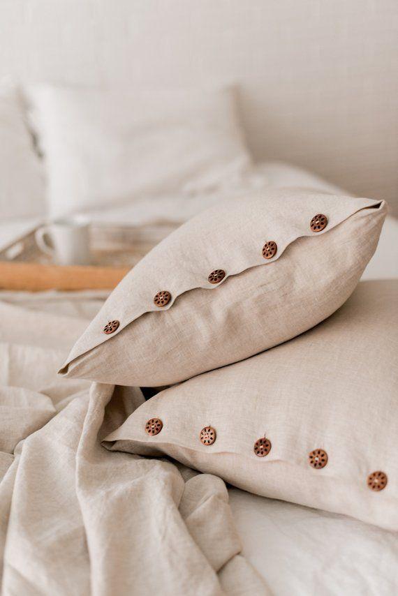 linen pillow case personalized linen