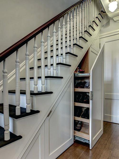 Under Stairs Storage Ideas Ireland Example Of A Classic Wooden Staircase  Design In New York Ikea