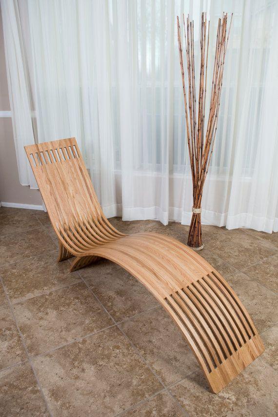 Bent-oak lounge chair