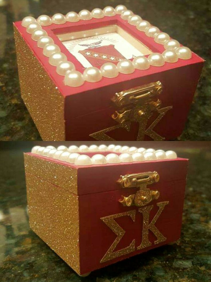 Sigma Kappa sorority pin box ΣΚ