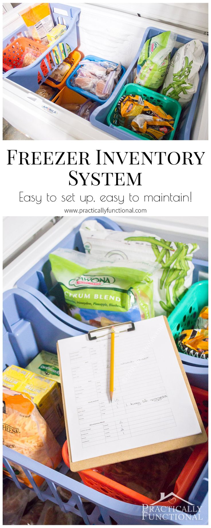 Love this simple chest freezer inventory system, it's so easy to set up and easy to maintain!