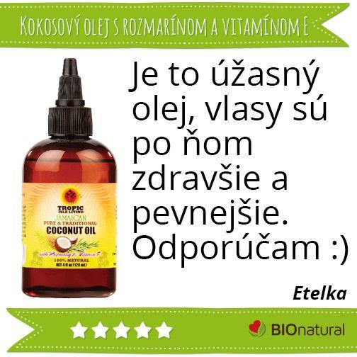 Hodnotenie kokosového oleja s rozmarínom a vitamínom E #diy #vyrobsisama http://www.bionatural.sk/p/kokosovy-olej-s-rozmarinom-a-vitaminom-e-120-ml?utm_campaign=hodnotenie&utm_medium=pin&utm_source=pinterest&utm_content=&utm_term=koko_rozm_vitaE