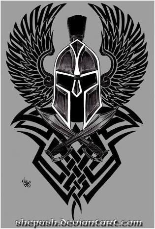 Resultado de imagem para spartan tattoo