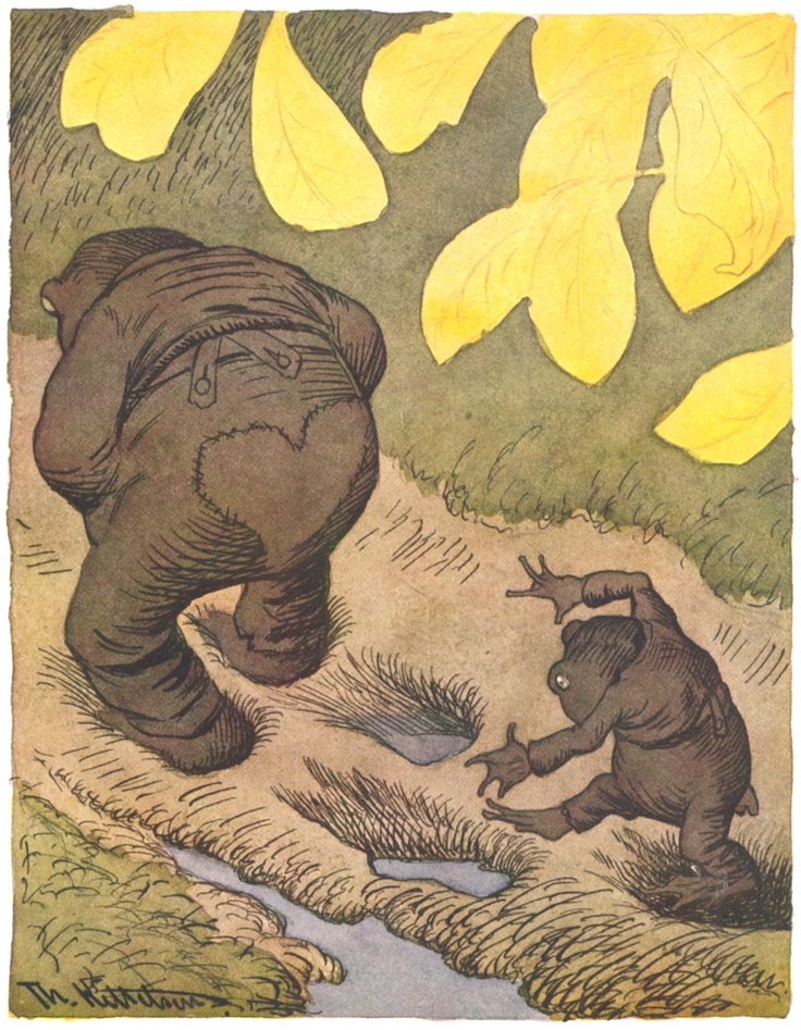 'Min sønn, tred alltid i din fars fotspor' by Theodor Kittelsen