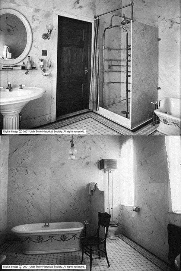 bathroom history - vintage photo - foto storiche del bagno