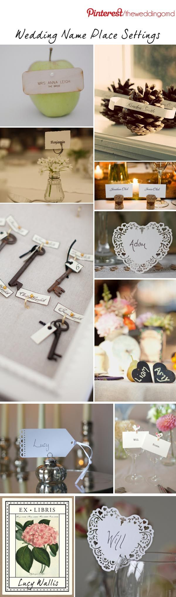 silver heart wedding place card holders%0A Wedding Name Card Ideas   Follow Us On Pinterest For Wedding Inspiration