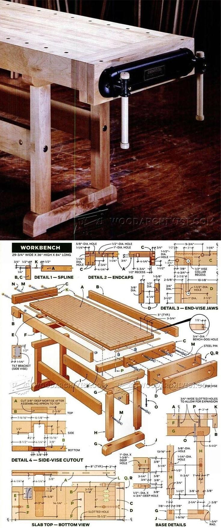 Plan D Etabli Bois workbench plan - workshop solutions projects, tips and