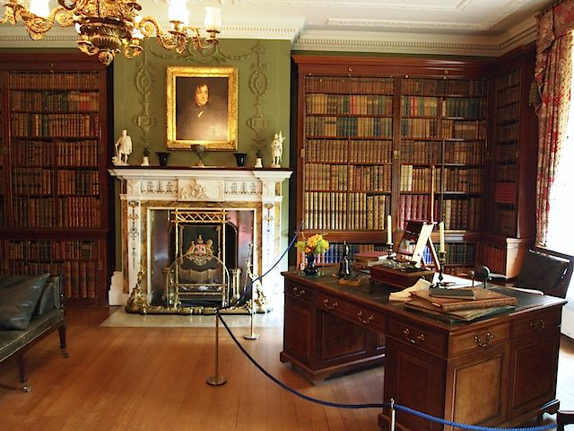 Office of Benjamin Disraeli at Hughenden Manor--The portrait of Disraeli was painted by Sir Francis Grant and given to Mary Anne when Disraeli first became Chancellor of the Exchequer in 1852.